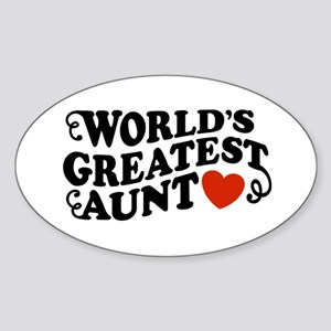 World's Greatest Aunt Oval Sticker