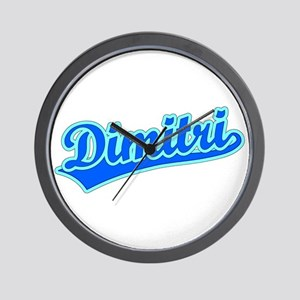 Retro Dimitri (Blue) Wall Clock