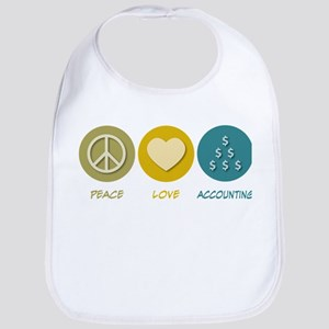 Peace Love Accounting Bib
