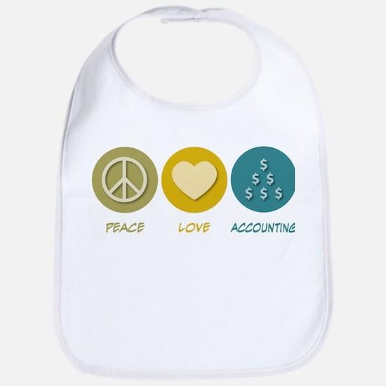 Peace Love Accounting Bib