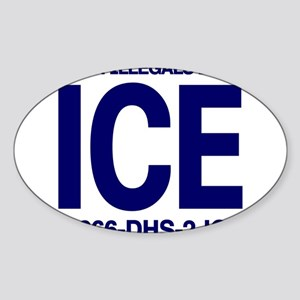 TURN ILLEGALS INTO ICE - Rectangle Sticker