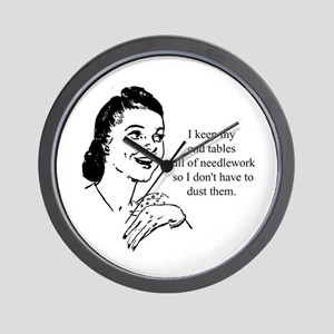 Needlework - Don't have to Du Wall Clock