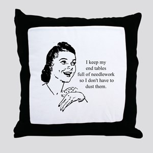 Needlework - Don't have to Du Throw Pillow