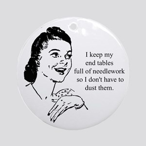 Needlework - Don't have to Du Ornament (Round)