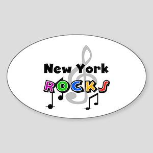 New York Rocks Oval Sticker