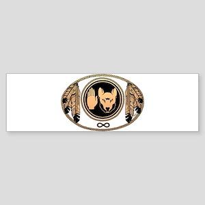 Metis Wolf Flag Native Art Sticker (Bumper)