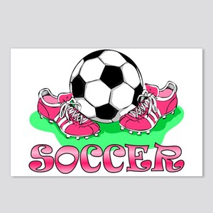 Soccer (Pink) Postcards (Package of 8)