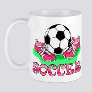 Soccer (Pink) Mug