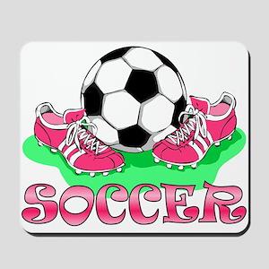 Soccer (Pink) Mousepad
