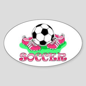 Soccer (Pink) Oval Sticker