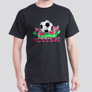Soccer (Pink) Dark T-Shirt