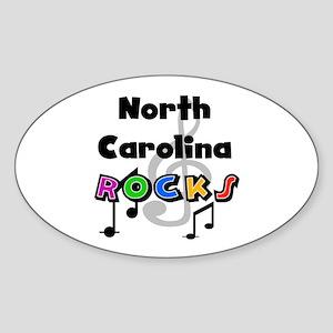 North Carolina Rocks Oval Sticker