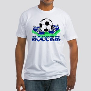 Soccer (Blue) Fitted T-Shirt