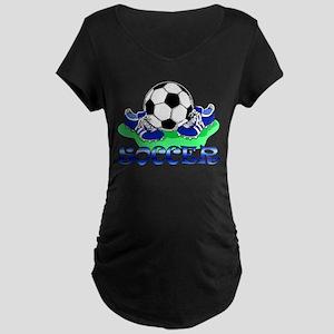 Soccer (Blue) Maternity Dark T-Shirt