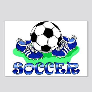 Soccer (Blue) Postcards (Package of 8)