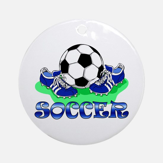 Soccer (Blue) Ornament (Round)