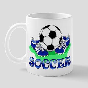 Soccer (Blue) Mug