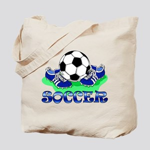 Soccer (Blue) Tote Bag