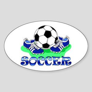 Soccer (Blue) Oval Sticker