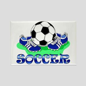 Soccer (Blue) Rectangle Magnet