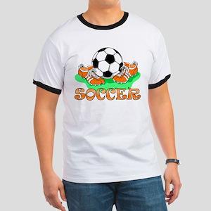Soccer (Orange) Ringer T