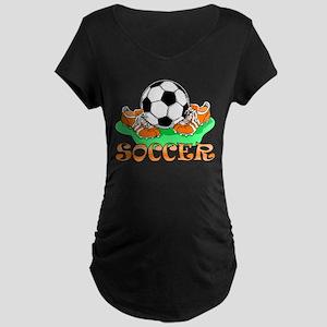 Soccer (Orange) Maternity Dark T-Shirt