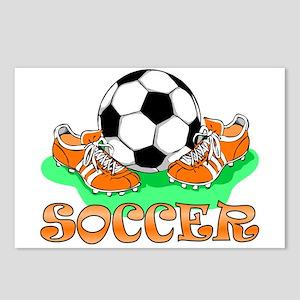 Soccer (Orange) Postcards (Package of 8)