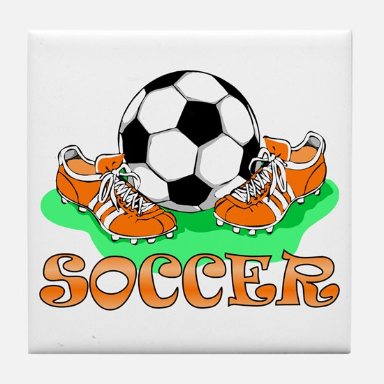 Soccer (Orange) Tile Coaster