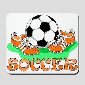 Soccer (Orange) Mousepad