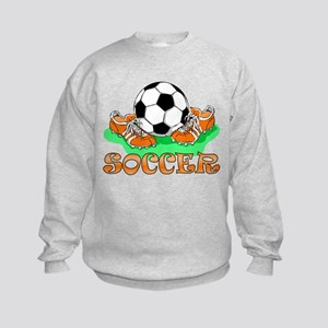Soccer (Orange) Kids Sweatshirt