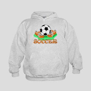 Soccer (Orange) Kids Hoodie