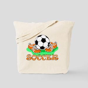 Soccer (Orange) Tote Bag