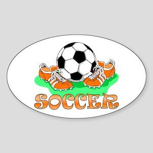 Soccer (Orange) Oval Sticker