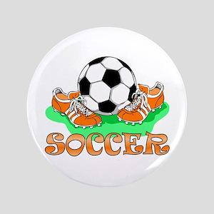 "Soccer (Orange) 3.5"" Button"