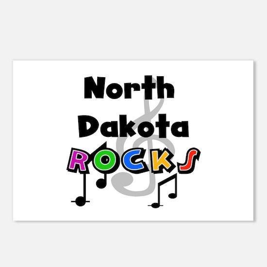 North Dakota Rocks Postcards (Package of 8)