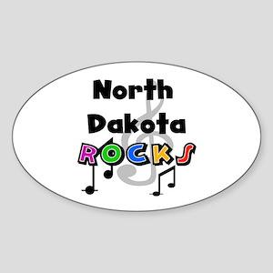 North Dakota Rocks Oval Sticker