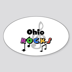Ohio Rocks Oval Sticker