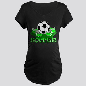 Soccer (Green) Maternity Dark T-Shirt