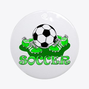 Soccer (Green) Ornament (Round)