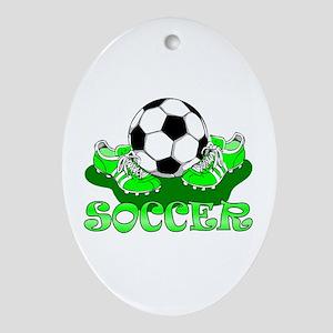 Soccer (Green) Oval Ornament