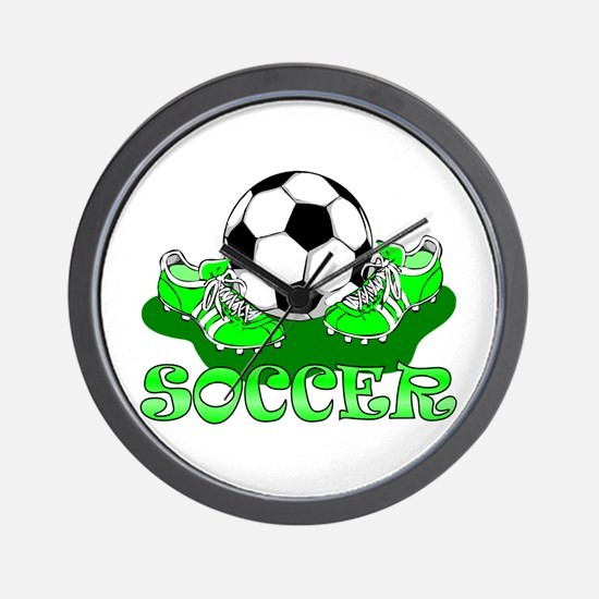 Soccer (Green) Wall Clock