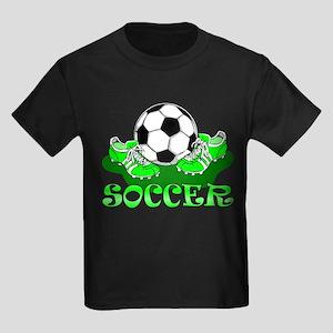 Soccer (Green) Kids Dark T-Shirt