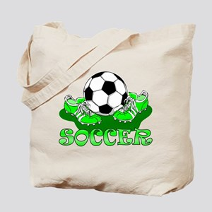 Soccer (Green) Tote Bag