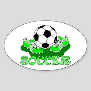Soccer (Green) Oval Sticker