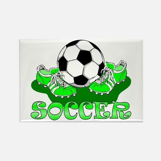 Soccer (Green) Rectangle Magnet