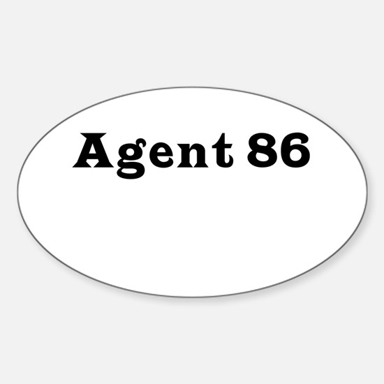 Agent 86 Oval Decal