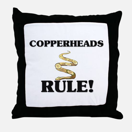 Copperheads Rule! Throw Pillow