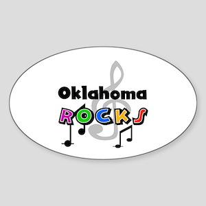 Oklahoma Rocks Oval Sticker