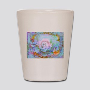 The Mystical shell art work by Millie Shot Glass