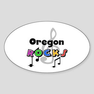 Oregon Rocks Oval Sticker